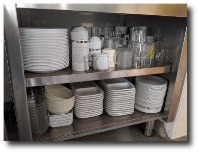 Plates, bowls, and cutlery