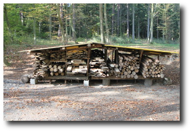 Timber for camp constructions